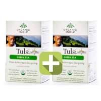 Акция 2 по цене 1! Базиликовый чай Зеленый Органик Индия (Organic India Tulsi Green), 18шт