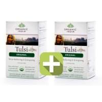 Акция 2 по цене 1! Базиликовый чай Оригинал Органик Индия (Organic India Tulsi Original), 18шт