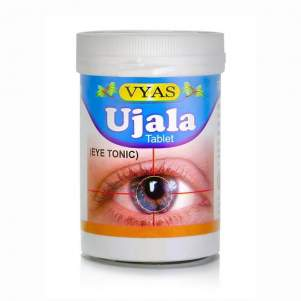 Аюрведический тоник для глаз в таблетках Уджала Вьяс (Ujala Vyas Eye Tonic), 100шт