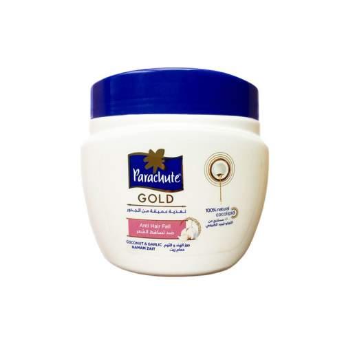 Кокосовая маска против выпадения волос с экстрактом чеснока Парашют Голд (Parachute Gold Anti Hairfall Coconut Garlic Hammam Zait), 500мл