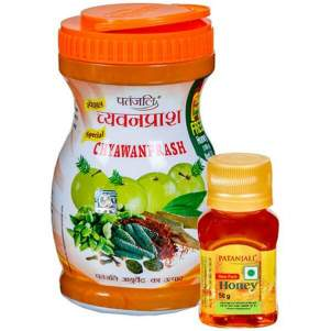 Чаванпраш и мёд Патанджали (Chyawanprash and Honey Patanjali), 500г+50г