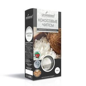 Кокосовые Чипсы Полеззно (Polezzno), 100г