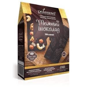 """Набор для приготовления шоколада """"Тёмный шоколад"""" Полеззно (Polezzno), 300г"""