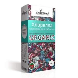 Хлорелла таблетки Полеззно (Polezzno), 100г