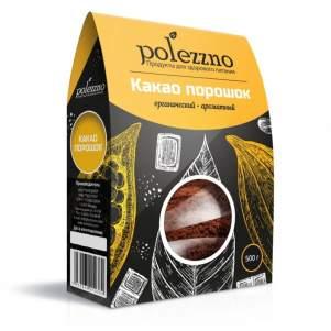 Какао Порошок Натуральный Полеззно (Polezzno), 500 г
