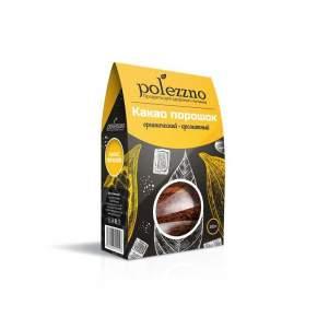 Какао Тёртое Натуральное Полеззно (Polezzno), 200г