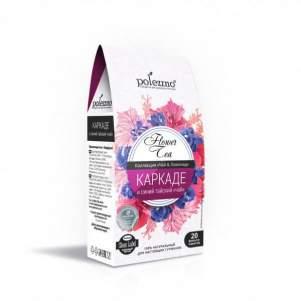 Напиток Каркаде и Синий Тайский Чай Полеззно (Flower Tea Polezzno), 20 фильтр-пакетов