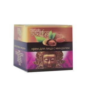 Крем для лица с миндалем Aasha Herbals, 50г