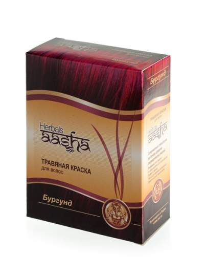"Травяная краска для волос ""Бургунд"" Ааша (Aasha Herbals), 60г"