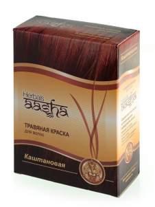 """Травяная краска для волос """"Каштановая"""" Ааша (Aasha Herbals), 60г"""