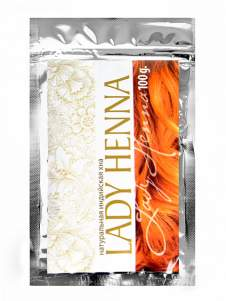 Натуральная индийская хна Леди Хенна (Lady Henna), 100г