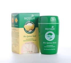 Питательный массажный крем для лица Биотик Био Айва (Biotique Bio Quince Seed Nourishing Face Massage Cream), 50г