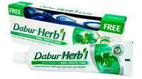 "Зубная паста ""Защита полости рта"" с базиликом Дабур (Dabur Herb'l Basil Natural Toothpaste for Oral Protection), 150г + зубная щетка"