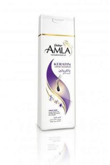 """Крем-Шампунь для ослабленных волос """"Кератин"""" Дабур Амла (Dabur Amla Nourishment Keratin Cream Shampoo), 200мл"""