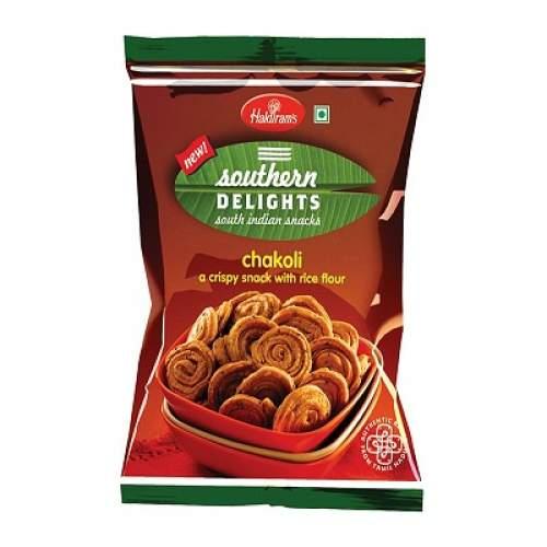 Хрустящая закуска Халдирамс Чаколи (Haldiram's Chakoli a Crispy Snack With Rice Flour), 200г