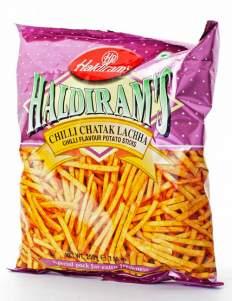Картофельные Палочки Халдирамс Чили Чатак Лакка (Haldiram's Chilli Chatak Laccha Chilli Flavour Potato Sticks), 200г