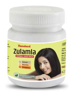 Укрепляющая маска для волос Зуламла Хамдард (Hamdard Zulamla Herbal Hair Pack), 200г