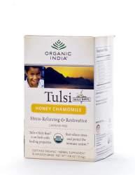 Базиликовый чай Мед и Ромашка Органик Индия (Organic India Tulsi Honey Chamomile), 18шт