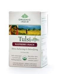 Базиликовый чай Малина и Персик Органик Индия (Organic India Tulsi Rasberry Peach), 18шт