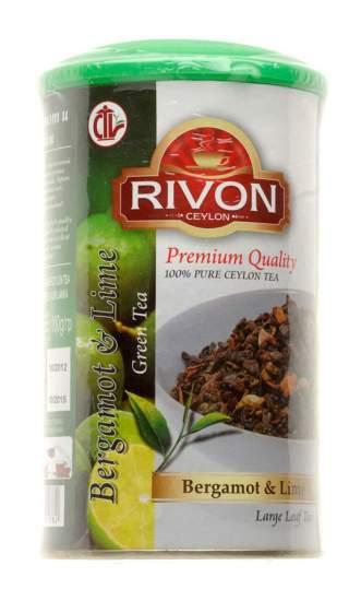 Чай зеленый с бергамотом и лимоном Rivon Bergamot&Lime, 100г