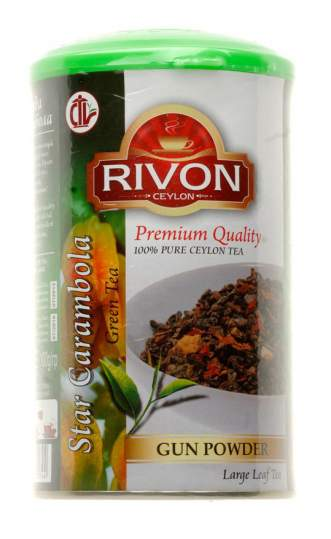 Чай зелёный Звезда Карамбола Ривон (Rivon Ceylon Star Carambola Green Tea), 100г