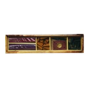 Набор конусов и палочек в подарочной коробке из дерева манго B-04, 30x7x2см