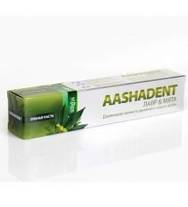 """Зубная паста ААШАДЕНТ Лавр&Мята """"Длительная свежесть дыхания и защита десен"""" Ааша (AASHADENT Aasha Herbals), 100г"""