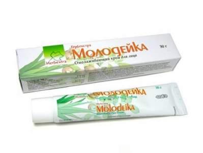 Растительный омолаживающий крем для лица Молодейка Гербекстра (Herbextra), 30г