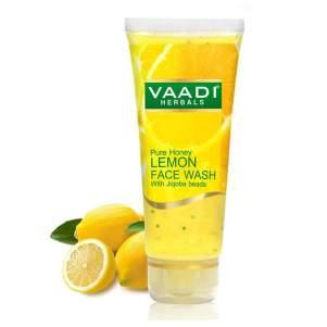 Гель для умывания Мёд и Лимон с гранулами жожоба Ваади Хербалс (Vaadi Herbals Pure Honey Lemon Face Wash With Jojoba Beads), 60мл