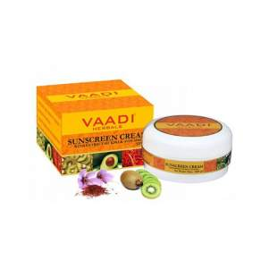 Солнцезащитный крем для лица и тела с экстрактом Киви и Авокадо Ваади Хербалс  (Vaadi Herbals Sunscreen Cream With Extract Of Kiwi&Avocado SPF25), 90г