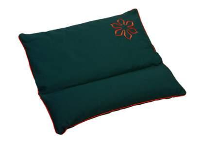 Подушка для медитации с валиком под шею (45x50), зелёная