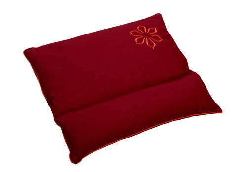 Подушка для медитации с валиком под шею (45x50), красная