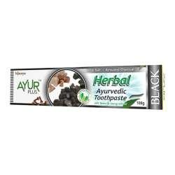 Аюрведическая зубная паста с каменной солью и активированным углем Аюр Плюс (Ayur Plus Herbal Black), 100г