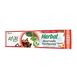 Аюрведическая зубная паста с гвоздикой и камфарой Аюр Плюс (Ayur Plus Herbal Red), 100г