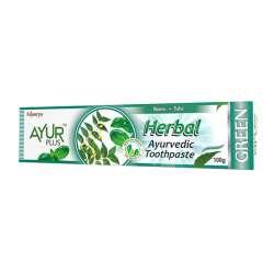 Аюрведическая зубная паста с нимом и тулси Аюр Плюс (Ayur Plus Herbal Green), 100г