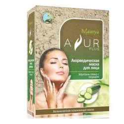 Аюрведическая маска для лица Мултани глина и Огурец Аюр Плюс (Ayur Plus), 100г