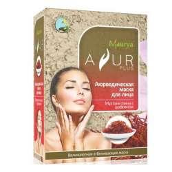 Аюрведическая маска для лица Мултани глина и Шафран Аюр Плюс (Ayur Plus), 100г