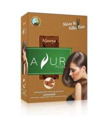 Аюрведический порошок для волос Шикакай Аюр Плюс (Ayur Plus Shiny&Silky Hair), 50г