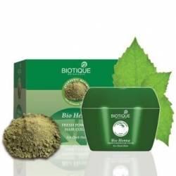 Натуральный порошок для темных волос Биотик Био Хна (Biotique Bio Henna FreshPowder Hair Color), 90г