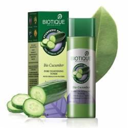 Тоник для лица Биотик Био огурец с Гималайской водой (Biotique Bio Cucumber Pore Tightening Toner), 120мл