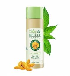 Детское массажное масло Биотик Био Миндаль (Biotique Bio Almond Oil  Baby Soft Massage Oil), 120мл
