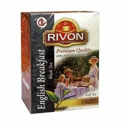 Чай цейлонский чёрный премиум-качества Английский Завтрак Ривон (Rivon Ceylon Premium Quality English Breakfast Black Tea), 200г