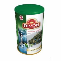 Чай зеленый премиум-качества Черника Ривон (Rivon Ceylon Blueberry Green Tea), 100г