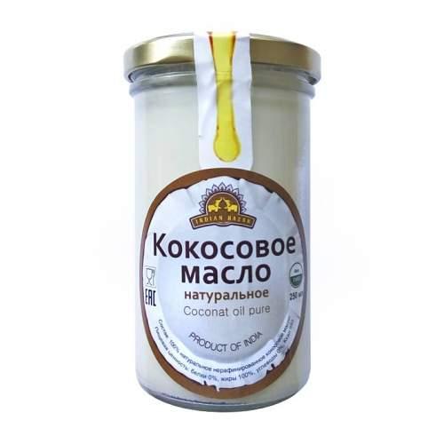 Натуральное нерафинированное кокосовое масло Индиан Базар (Coconut oil pure Indian Bazar), 250мл