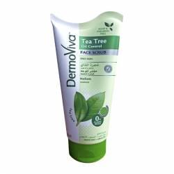 Гель-скраб для лица Контроль блеска с маслом чайного дерева Дабур ДермоВива (Dabur DermoViva Oil Control Face Scrub), 150мл