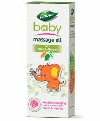 Массажное масло для детей с миндалем и оливками Дабур (Dabur Baby Massage Oil with Olive&Almond), 100мл