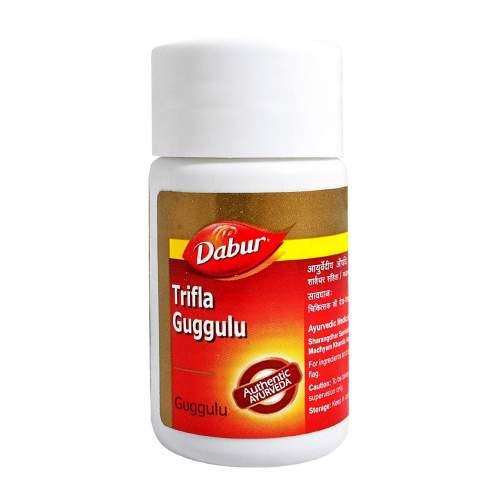 Трифала Гуггул Дабур (Dabur Trifla Guggulu) , 40шт