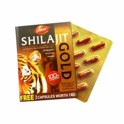 Золотое мумиё Шиладжит Голд Дабур (Dabur Shilajit Gold), 12шт