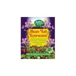 Иван-чай Купеческий зеленый с лесной клубникой в коробке Дары полей, 75г