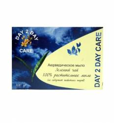 Аюрведическое мыло Зеленый чай Дэй Ту Дэй Кэр (DAY 2 DAY Care), 100г